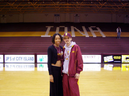 Born Talent & Lupita Center Court Before performance at IONA College'06