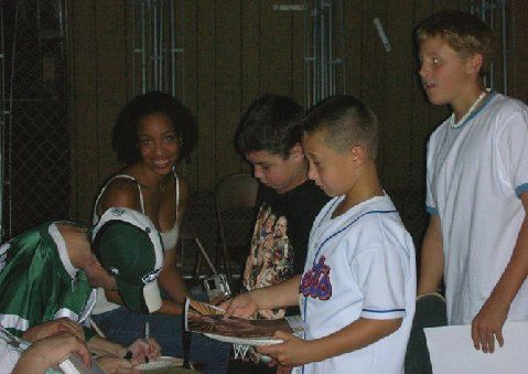 Born Talent at Jersey Rampage Wrestling- Signing Autographs '06